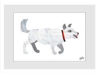 Marmont Hill   Handmade White Dog Painting on Framed Print  Retail 119 99
