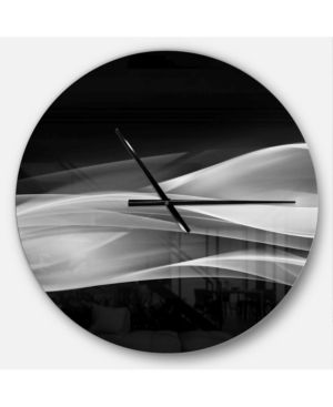 Designart  Glittering Silver Pattern  Oversized Modern Wall Clock  Retail 125 53