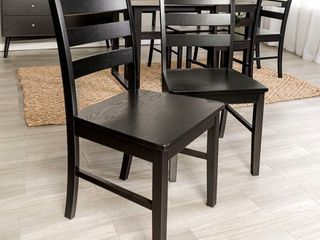 Wood ladder Back Dining Side Chairs  Set of 2  Retail 189 99