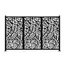 HighlanderHome Freestanding Modular Metal Privacy Screen  4FtX 6Ft  Retail 293 99
