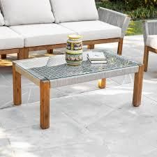 Belen Contemporary Natural Glass Cocktail Table by Havenside Home  Retail 205 99