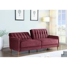Grattan Sofa Bed  Retail 368 99 burgundy velvet