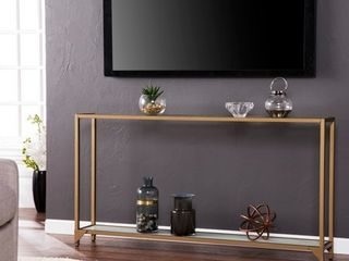 Silver Orchid Grant Gold Narrow Metal Console Table   Retail 146 00