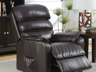 Furniture of America Hind Traditional Brown Power Recliner  Retail 745 49