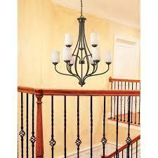Avery Home lighting Cardinal Olde Bronze 9 light Chandelier  Retail 330 00