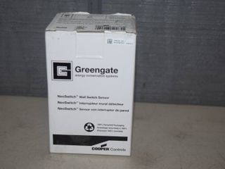 Greengate Dual Tech Wall Switch with Ecometer ONW D 1001 DMV N W