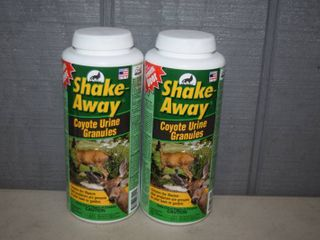 2 Bottles Shake Away Coyote Urine Granules large Animal Repellent
