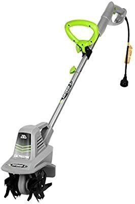 Earthwise TC70025 7 5 Inch 2 5 Amp Corded Electric Tiller Cultivator  Grey   USED