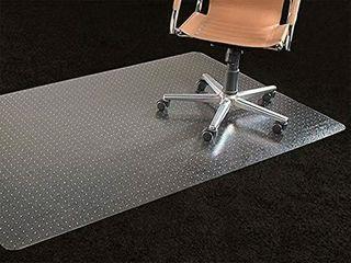 Office Chair Mat 35 x47  Carpet Protection Mat low Medium Pile Studded Clear Rectangular Shaped