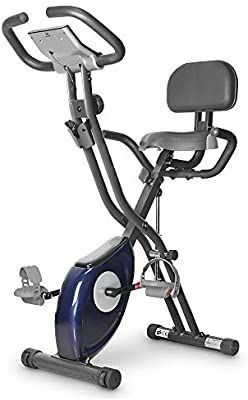 leikefitness lEIKE X Bike Ultra Quiet Folding Exercise Bike  Magnetic Upright Bicycle with Heart Rate lCD Monitor and easy to assemble 2200  BlUE    MIGHT BE MISSING SOME HARDWARE