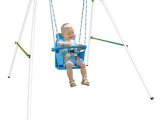 Sportspower My First Toddler Swing   Heavy Duty Baby Indoor Outdoor Swing Set with Safety Harness   IS MISSING INSTRUCTIONS AND MIGHT BE MISSING HARDWARE