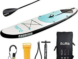 DAMA Youth Board  10a  Inflatable Sup Board  All Round Board  Kids Board  Kayaka Board  light Bag  Floating Paddle  Fin  Dual Hand Pump Quick Inflate  Safe leash  Youth   Beginner   USED AND UNTESTED
