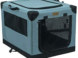 Akinerri Folding Soft Dog Pet Crate Kennel Soft Collapsible Dog Crate and Kennel with leak Proof Bottom for Indoor or Travel Use