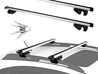 lEDKINGDOMUS Universal Cross Bars Roof Rack  Adjustable Crossbars for Maximum 48  Top Side Rails Width Only  Compatible for Cars Vehicles SUVs with Raised Side Rails for Cargo Carrier Bike Racks
