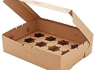 Set of 15 Standard Cupcake Boxes for 12 Cupcakes  Cupcake Carriers  Kraft Food Grade Cupcake Containers