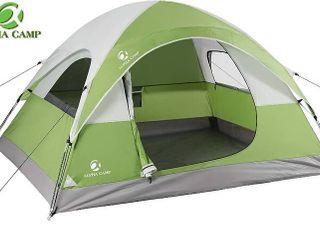Alpha Camp 3 Person Camping Tent   7  X 8  Green