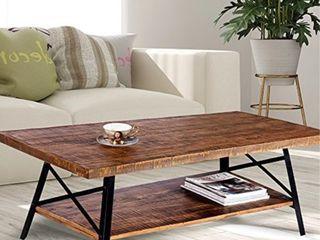 Olee Sleep 46  Cocktail Wood and Metal legs Coffee TableEnd Table