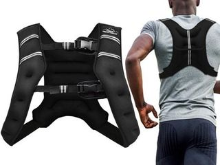 Aduro Sport Weighted Vest Workout Equipment  4lbs 6lbs 12lbs 20lbs 25lbs Body Weight Vest for Men  Women  Kids  20 Pounds  9 07 KG