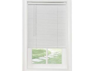 Achim Home Furnishings Cordless Morningstar 1  light Filtering Mini Blind  Width 42inch  Pearl White