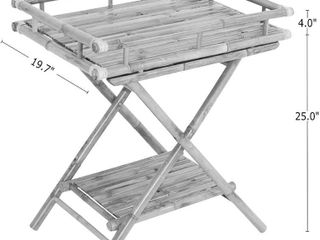 ZEW   Bamboo table with removable serving tray AC 309 17