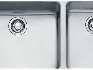 Franke Kubus 39  Double Basin Undermount 18 Gauge Stainless Steel Kitchen Sink