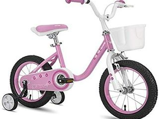 Cycmoto Girls Bicycle for 3 6 Years Old 14 16 Inch Kids Bicycle with Basket  Handbrake and Training Wheels  Blue Pink Purple