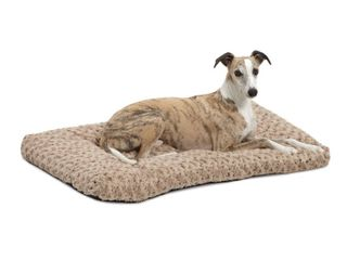 Midwest Quiet Time Pet Bed Deluxe Tan Ombre Swirl 35  x 23