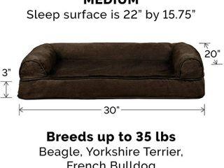 Furhaven Pet Folding Travel Bed  Plush Orthopedic Sofa  Medium