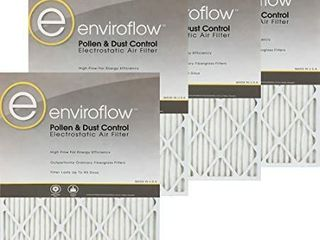 enviroflow 20 x 20 x 1  19 75 x 19 75  Pollen and Dust Control  Pack of 4