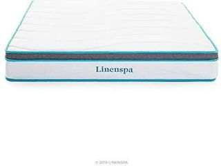 linenspa 8 Inch Memory Foam and Innerspring Hybrid Mattress   Medium Firm Feel   Twin