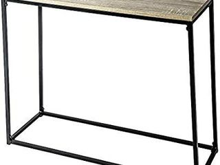 C Hopetree Console Entry Table for Entryway Hallway Sofa   Storage Shelves   Black Metal