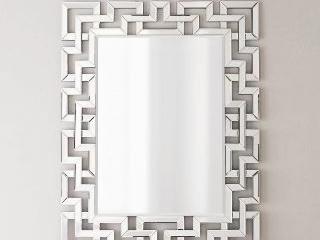 Rectangle Silver Frameless Modern Wall Mirror