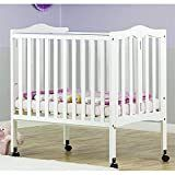 Dream On Me 2 in 1 lightweight Folding Portable Crib White