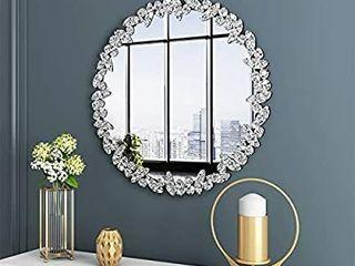 KOHROS large Antique Wall Mirror Ornate Glass Framed Venetian Decor Mirror Bedroom Bathroom  living Room  31 5  Round