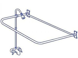 Clawfoot Tub Add On Shower RX2300A Includes 54 D Shower Rod IMPROVED Oct 2016 with Shower Rod Rings