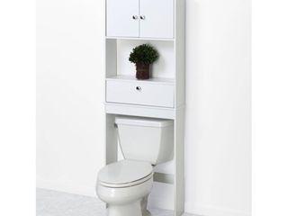 Zenna Home 9401W  Drop Door Bathroom Spacesaver  White  MISSING HARDWARE