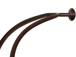 NeverRust Double Curved Tension Shower Rod Dark Brown   Zenna Home