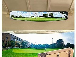 10l0l Universal Golf Cart 5 Panel Mirror Panoramic Rear View Mirror 35 8  fits Golf Carts EZGO  Club CAR and Precedent