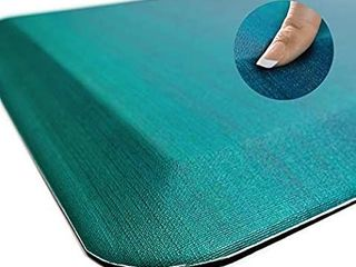 Anti Fatigue Comfort Floor Mat by Sky Mats   Commercial Grade Quality Perfect for Standup Desks  Kitchens  and Garages   Relieves Foot  Knee  and Back Pain  20x39 Inch  Green OmbrAc