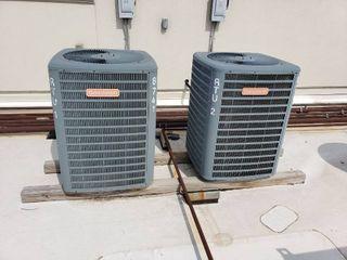 lot 2 Goodman AC outdoor units