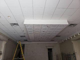 Ceiling tile in room