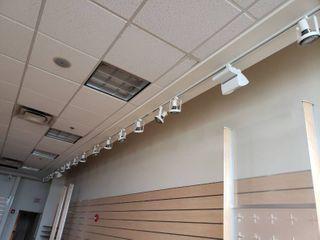 lot of 50  led hanging spot lights in room