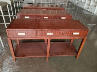 lot  3  wood tables