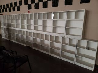 lot of storage cabinets