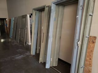 lot of doors and frames