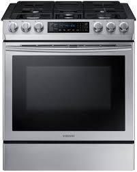 Samsung 5 Burners 5.8-cu ft Self-Cleaning Convection Slide-in Gas Range
