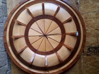 Handcrafted wooden clock