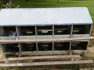 chicken nesting box 8 hole