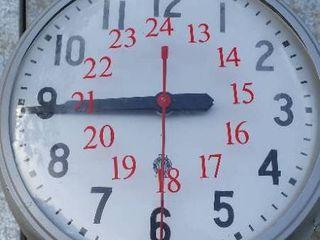Hallway clock from St  Mary s hospital