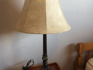 Metal table lamp with shade